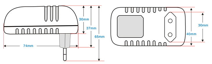 5v2a 电源适配器 bs-522 卧式 欧规 dc接口可定制